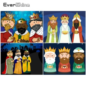 Evershine Diy Diamante Pintura Los Reyes Magos Diamantes Bordados De