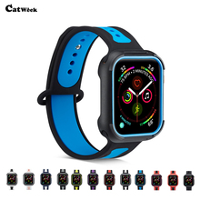 Silicone Strap Band For Apple Watch 4 40mm 44mm Watchband Rubber Wrist Bracelet Adapter For iwatch 2 3 4 38mm 42mm Fashion Band цена