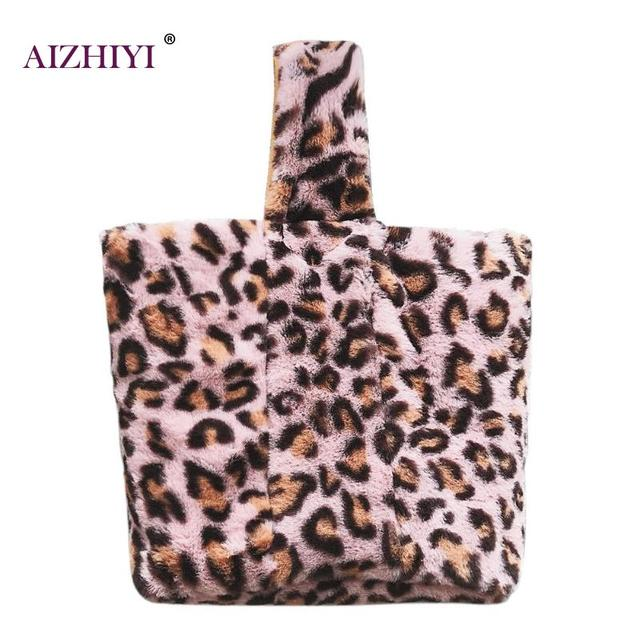 Women Leopard Print Handbag Casual Girls Sling Bag Shoulder Bucket Bags 5f5b3e6826f75