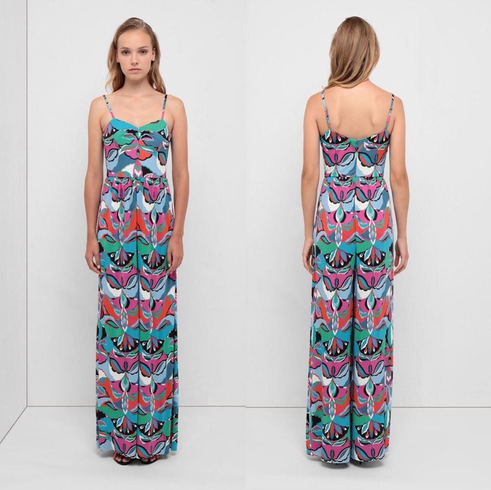The new women s fashion show Beach Vest Conjoine dress High end Printed Elastic Slim