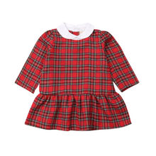 US Christmas Toddler Kid Baby Girl Plaid Ruffle Party Pageant Tutu Dress Clothes