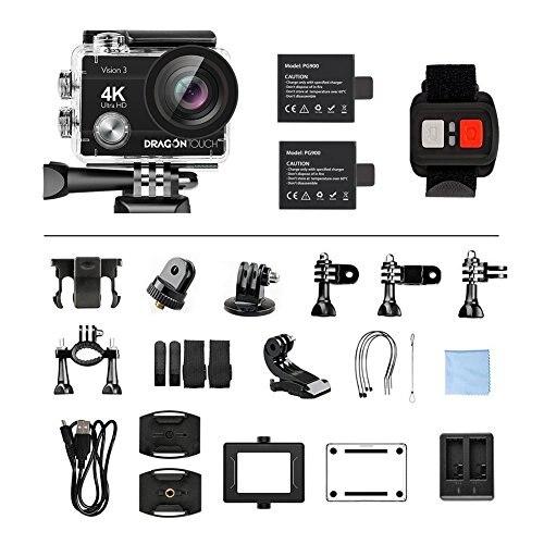 AKASO DragonTouch 4K Action Kamera 16MP Vision 3 170 Weitwinkel WiFi Sport Kamera Unterwasser Wasserdichte Kamera Fernbedienung