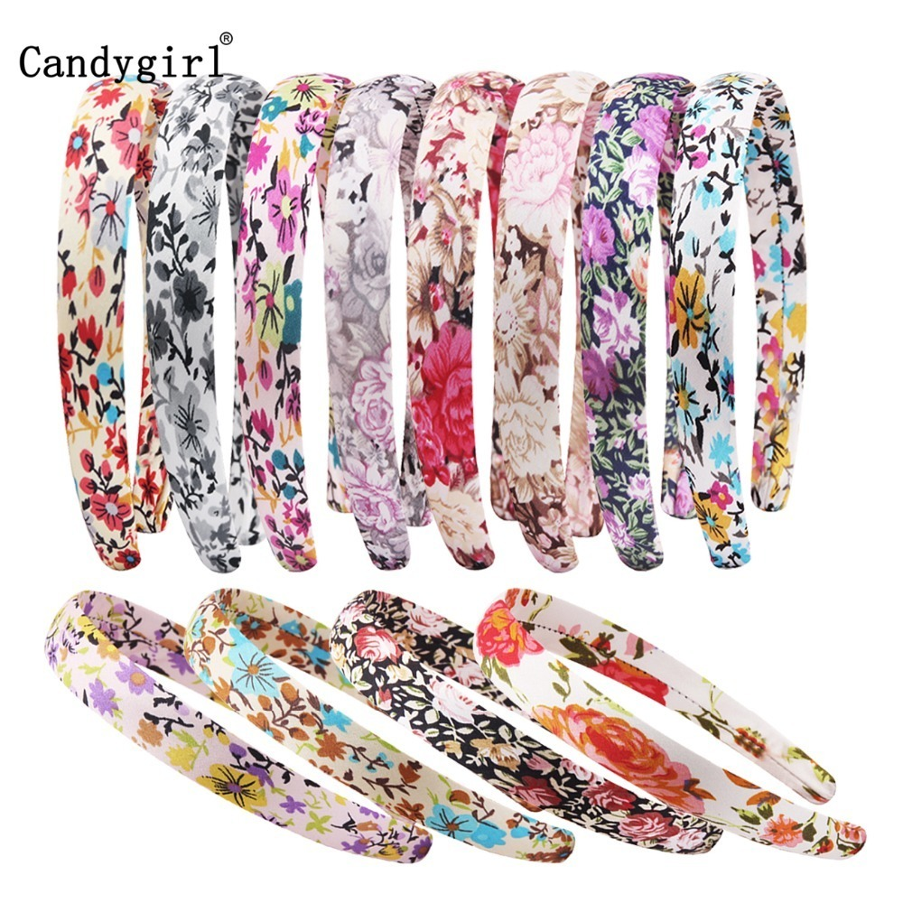 96pcs 2cm Headbands Hairband Fabric Covered Ribbon hair band Accessories Headpieces Satin headgear Girls Womens DIY