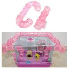 DIY u-образная пластиковая трубчатая линия, обучающая игра, подключенные внешние туннельные Игрушки для маленьких животных, клетка для хомяка, товары