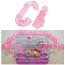 DIY U-type Plastic Pipe Line Tube Training Playing Connected External Tunnel Toys for Small Animal Hamster Cage Product Supplies
