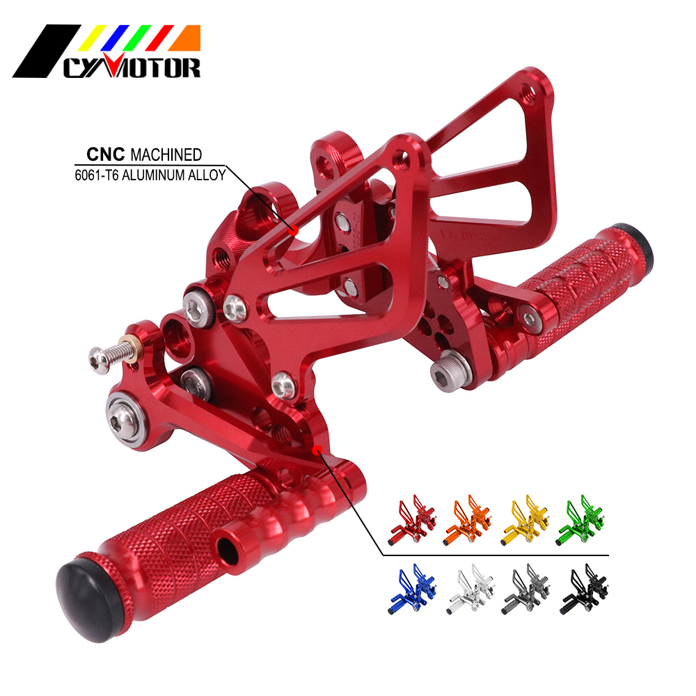 Motorcycle CNC Adjustable Foot Pegs Footpeg For Ducati 1198 1098 S R 848 EVO Tricolore Bayliss