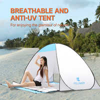 Professional (120+60)*150*100cm 2 Persons Tent Instant Pop Up Outdoor Automatic Instant Set up Beach Tent Anti UV Shelter 2019