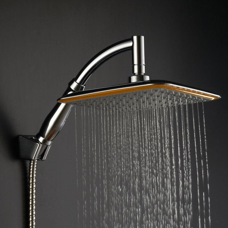 1pc nouveau argent grand carré ABS pluie pomme de douche Extension bras ensemble cascade pluie Chrome de haute qualité adapté à la maison