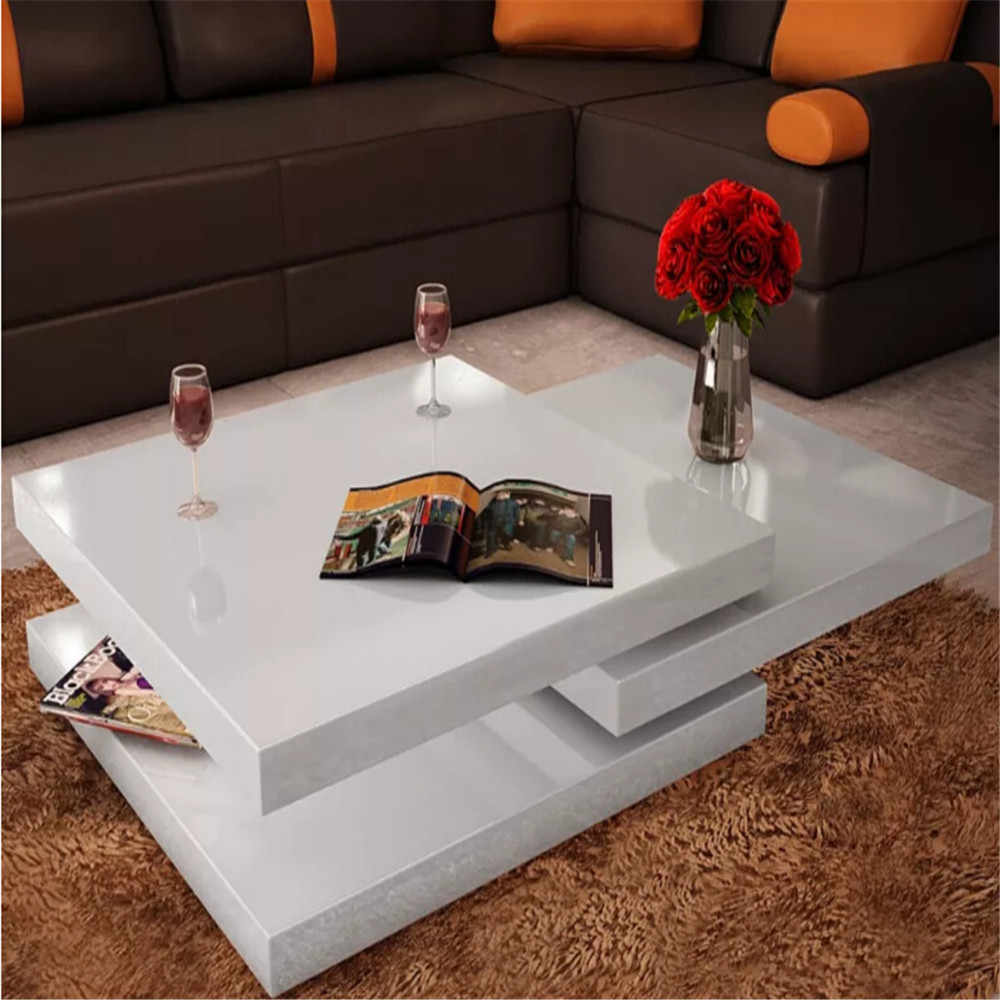 Vidaxl Square White Lacquered Coffee Table 3 Tiers High Gloss White Mdf Coffee Tables Assembale Living Room Furniture 241077 Coffee Tables Aliexpress