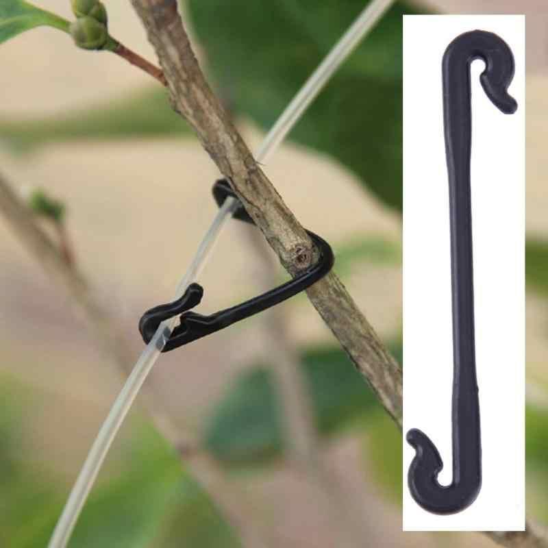 100/200 pcs Durable Grade plastique greffage Clips attache fleur vignes légumes buissons plante vrille Clip