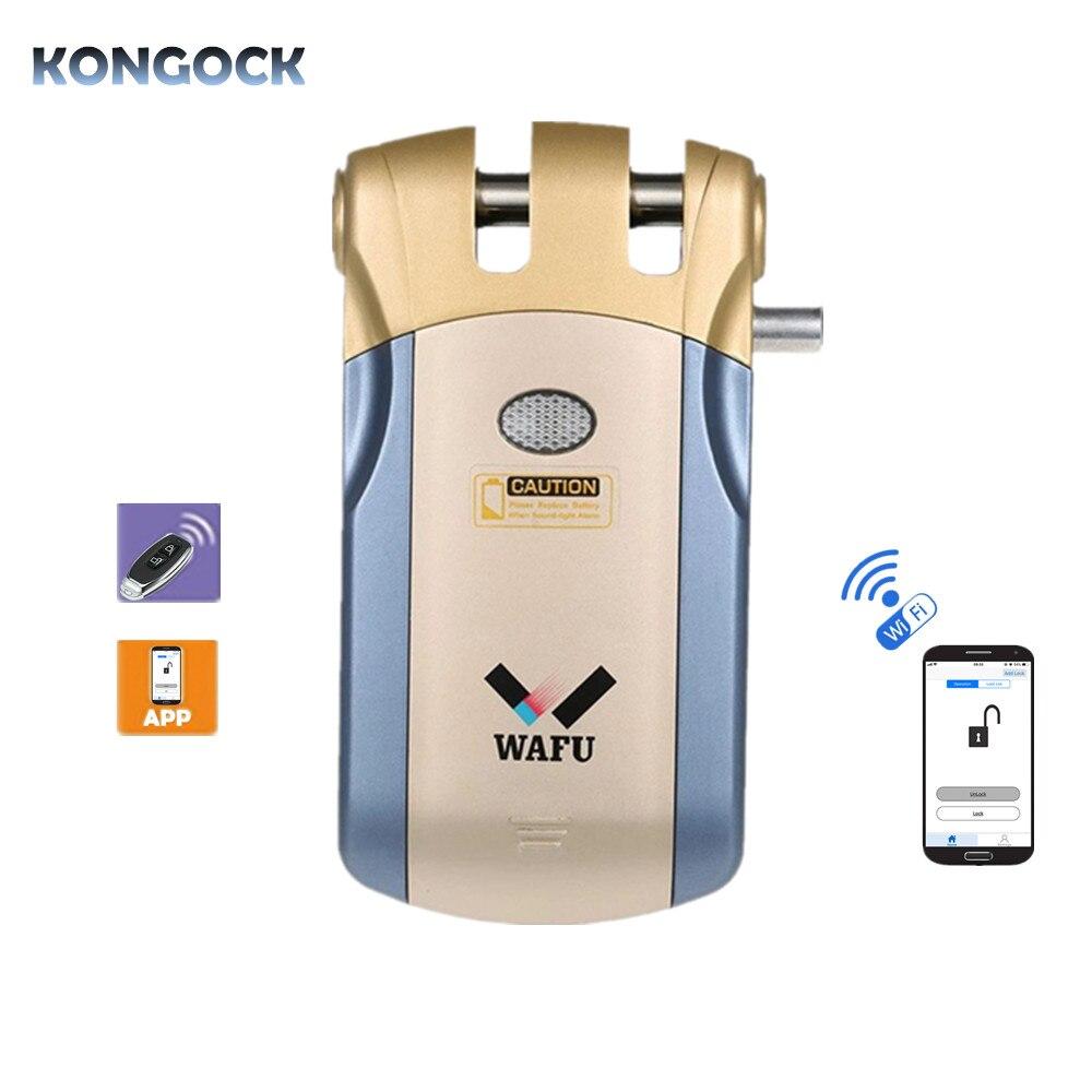 WIFI APP déverrouillage à distance et télécommande sans clé entrée Invisible électronique sans fil serrure de porte intelligente