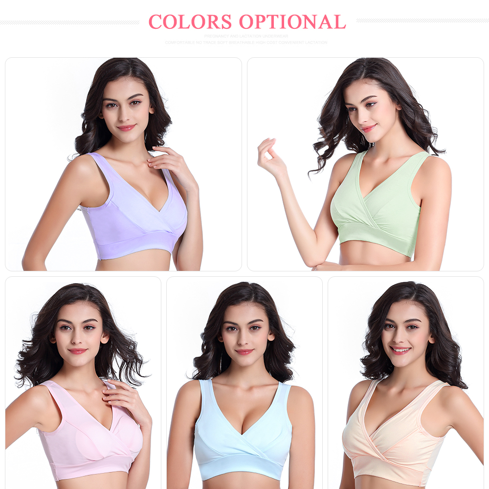 44f83589fb5 Maternity Nursing Bra Cotton Sexy Cross neck Vest type Sleep Bras For Mothers  Feeding Pregnant Women Breastfeeding Clothes-in Maternity   Nursing Bras  from ...
