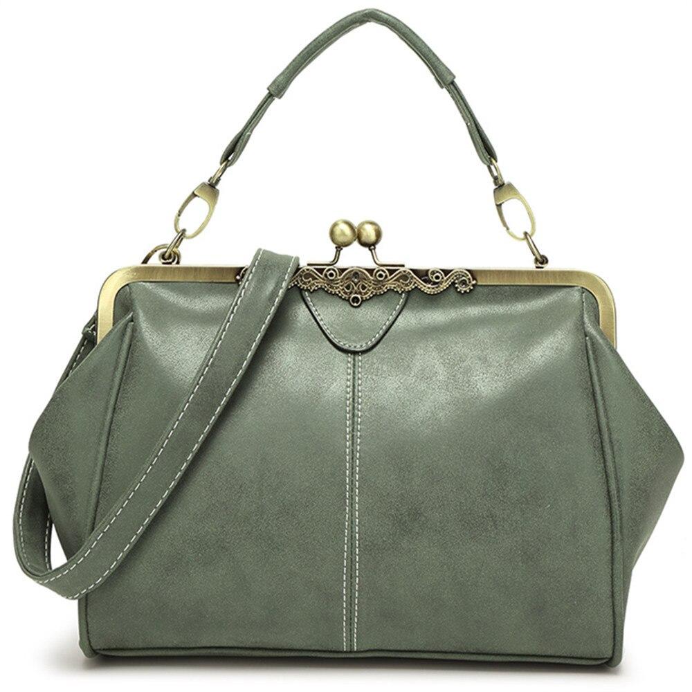 Women\\'S Vintage Matte PU Leather Shoulder Bag Designer Hasp Crossbody Bag Large Causal Totes