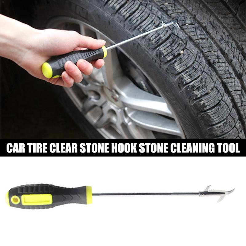 Car Tire Stone Cleaner Groove Broken Stone Remover Tire Cleaning Hook Tire Cleaning Tool Car-styling Pick-Up Hook Tire