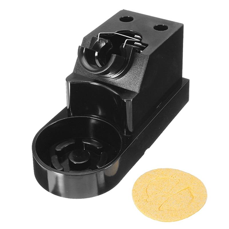 Black Bakelite Soldering Iron Stand Solder Base With Sponge Soldering Iron Stand Holder