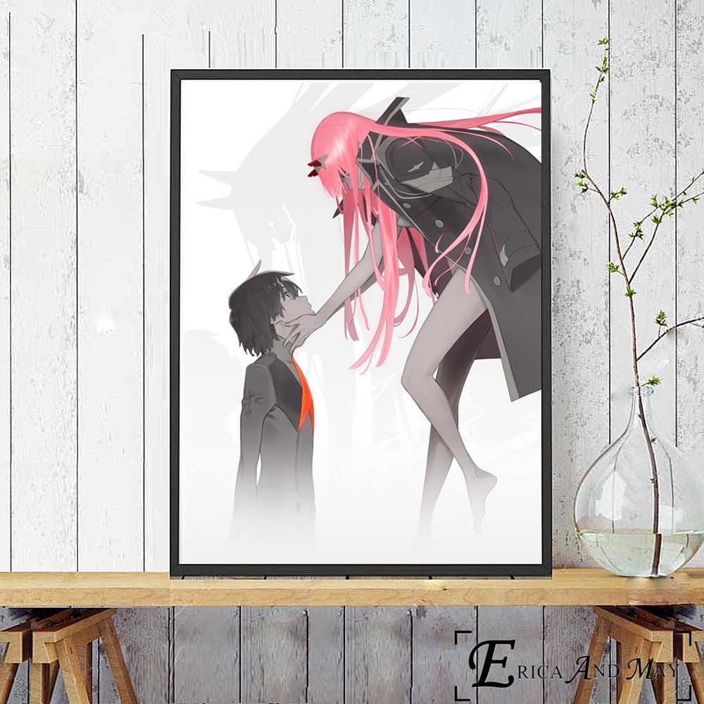 Darling In The Franxx Сексуальная Аниме фигурки постер и принт холст настенная художественная живопись картины для гостиной домашний Декор без рамы