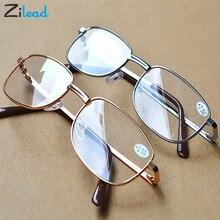 Zilead, металлическая оправа, очки для чтения, снимают усталость при дальнозоркости, TR90, сверхлегкие простые очки для родителей
