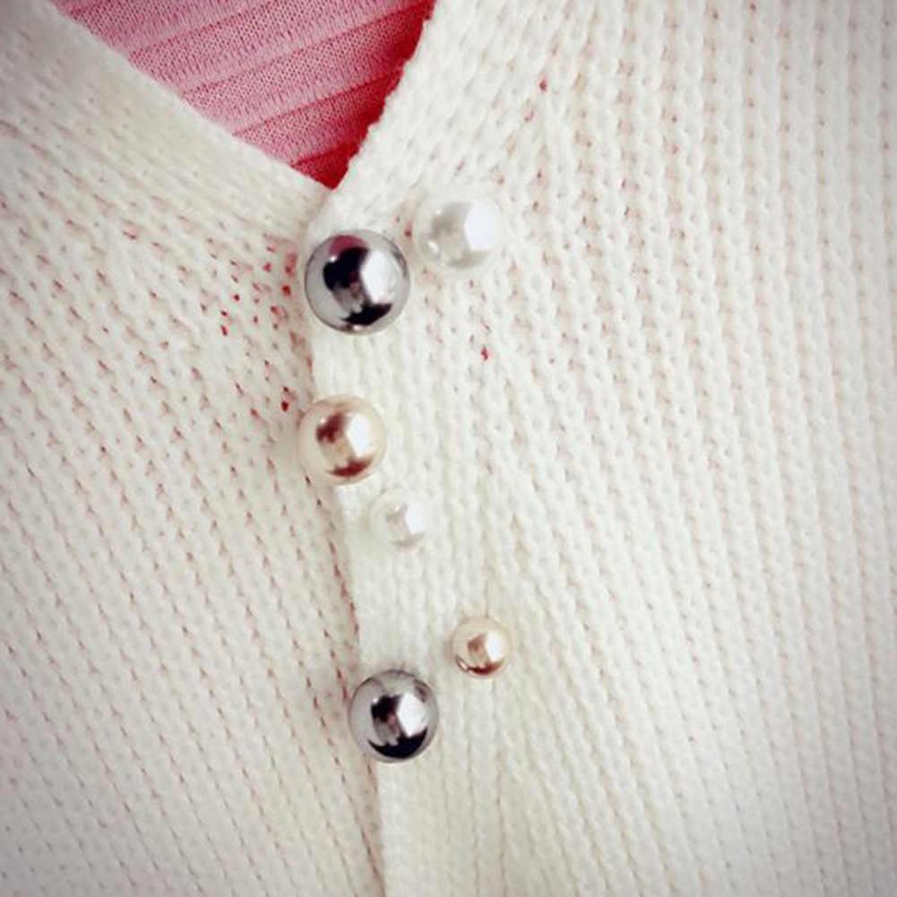 Elegante Rotonda FAI DA TE Imitazione Della Perla Dello Scialle Della Sciarpa Spilla Spilli delle Donne Collare Cardigan Tuta Fibbia Accessori Dei Monili Per I Regali di 2019
