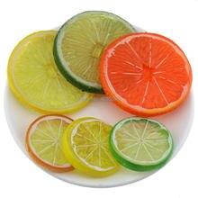 Gresorth Premium Artificial Fruit Slice Fake Orange Green Yellow Lemon Collection Photography Props