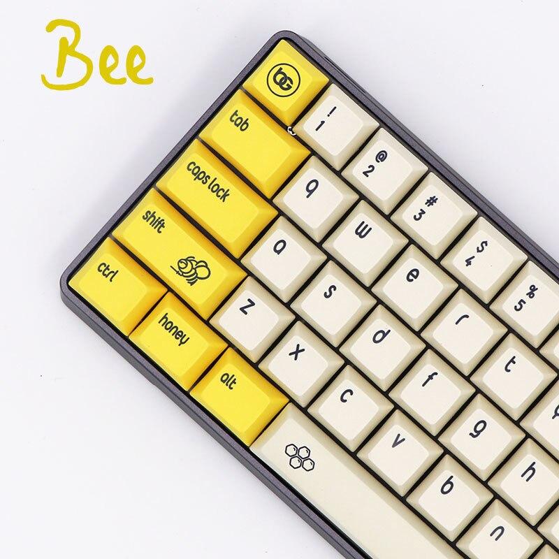 1 set DSA Bee Dye Sublimation Customization Mechanical Keyboard Key Cap GH60 61 64 68 660M
