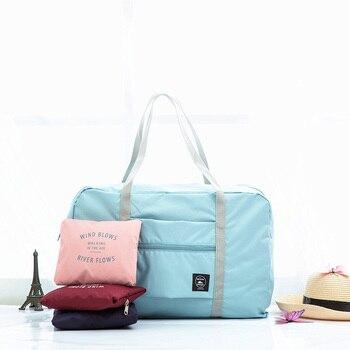 Waterproof Nylon Travel Bags Women Men Large Capacity Folding Sports Bag Organizer Packing Cubes Luggage Girl Weekend Bag