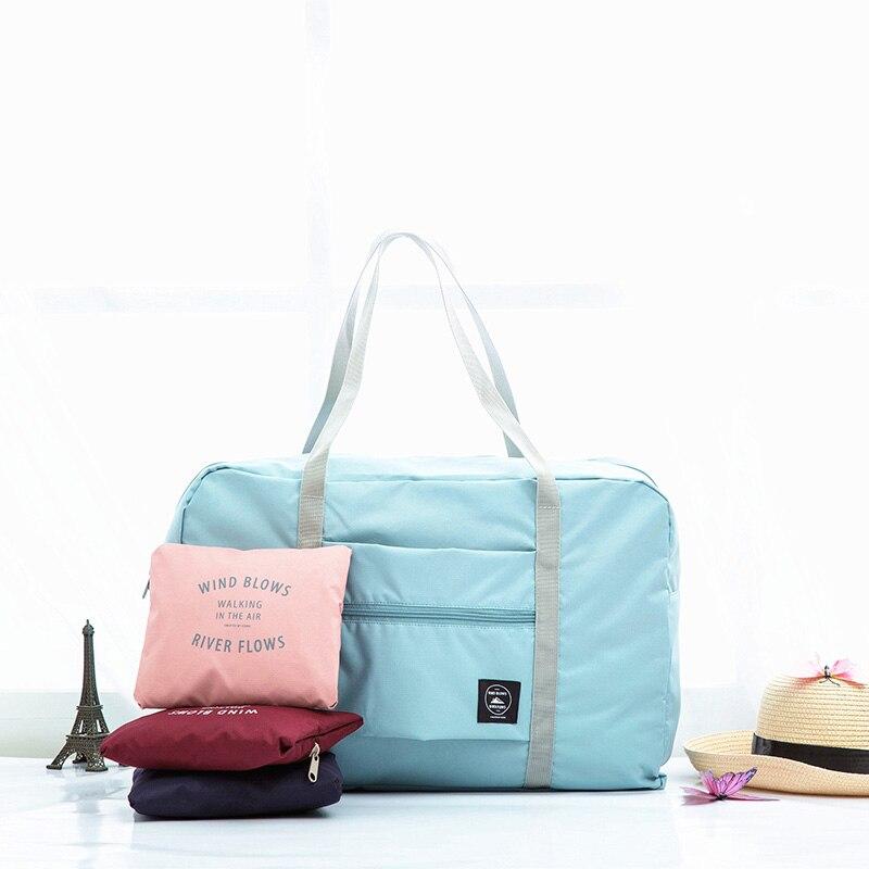 Wasserdicht Nylon Reisetaschen Frauen Männer Große Kapazität Klapp Duffle Tasche Organizer Verpackung Würfel Gepäck Mädchen Wochenende Tasche