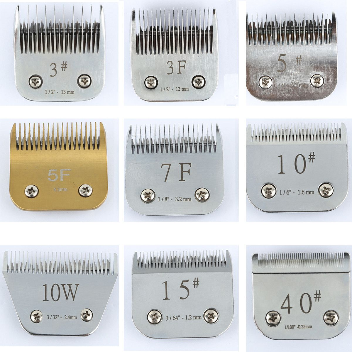 Professional font b Pet b font Grooming Clipper Blade Dog Hair Trimmer Standard Oster With 3