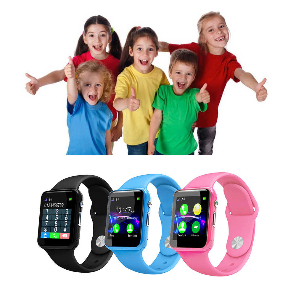 Kids Smart Watch Phone Children Tracker Smartwatch with Camera Anti Lost IOS BT Cell Phone Touch Screen Pedometer