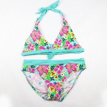 Bikini elástico para niña, traje de baño para niña, Bikini para playa y piscina