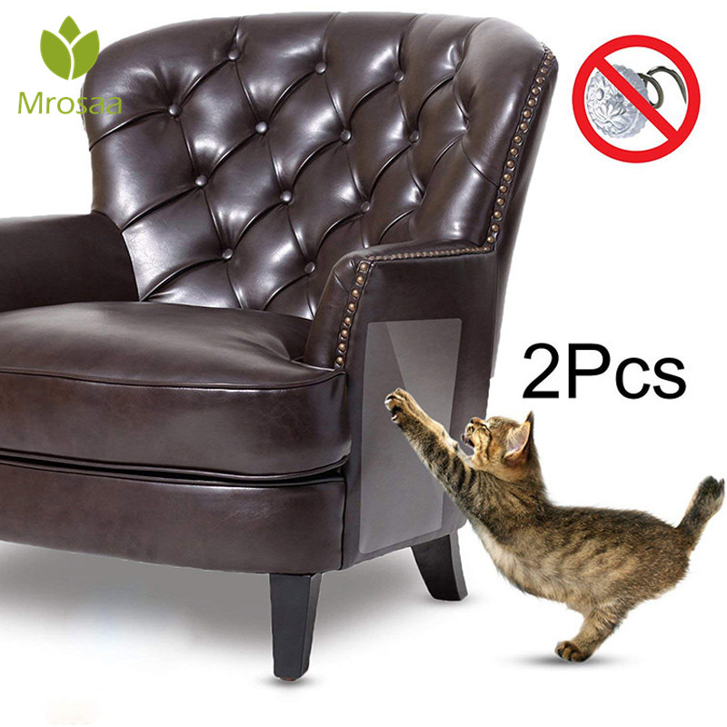 2pcs/set Cat Scratching Adhesive Corner Guard No Pins Needed For Cats Scratchers Furniture Foot Couch Protector Pet Supplies