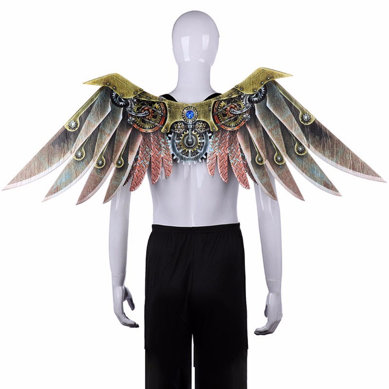 Carnival Party Vintage Steam Punk Blade Wings Props Adult Kids Christmas Halloween Party Cosplay Wings Accessories