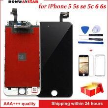 AAA ЖК-дисплей для iphone 5, 5s, se 6s 6 сенсорный экран сборка Замена с оригинальным дигитайзером для iphone 6 5 стол с ЖК-экраном Панель