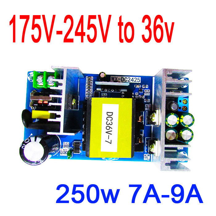 Преобразователь DYKB AC-DC AC 220V 240V to 36V 7A 250W импульсный источник питания Инверторные промышленные Модуль платы двигателя для усилителя
