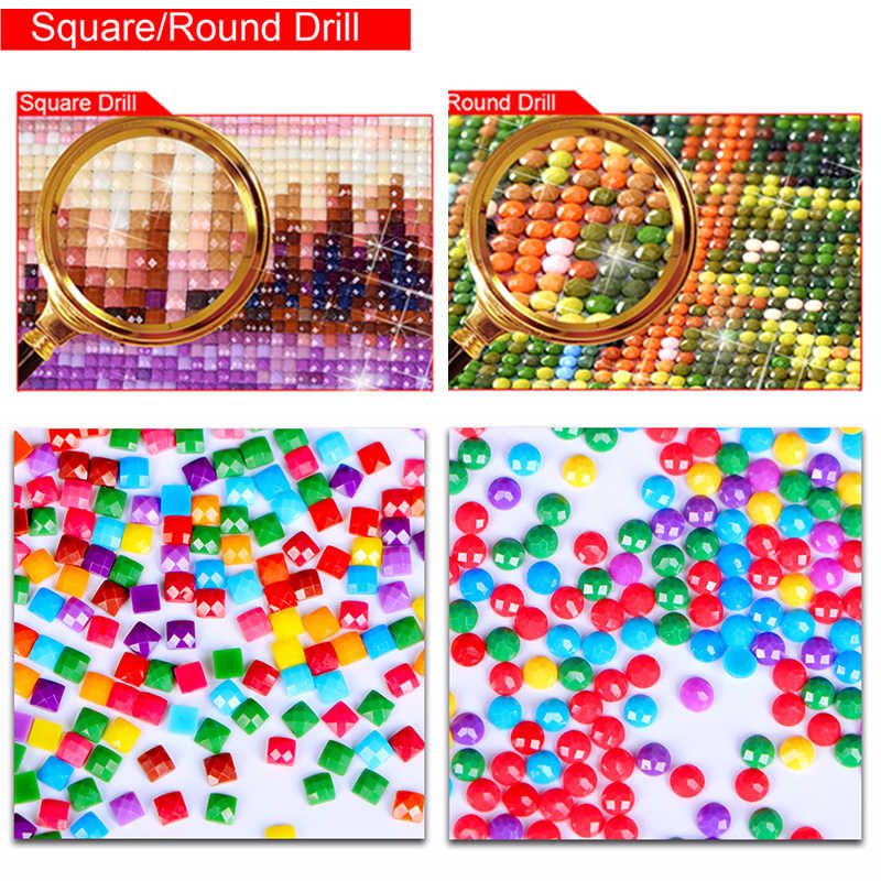 5D DIY Diamond Lukisan Lanskap Full Square Berlian Imitasi Laut Diamond Bordir Cross Stitch Mosaik Dekorasi Rumah