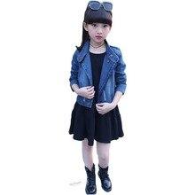 Children clothing Girls Dress Set 2019 New Spring Autumn Eve Long Sleeve Childrens Denim Jacket + Solid Color 3-12 years
