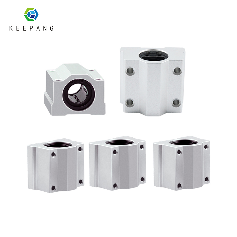 Kee Pang 4pcs/lot SC8UU SCS8UU Linear Ball Bearing 3D Printer XYZ Table Motion Bearing Slide CNC Part Router Rodamiento Lineales