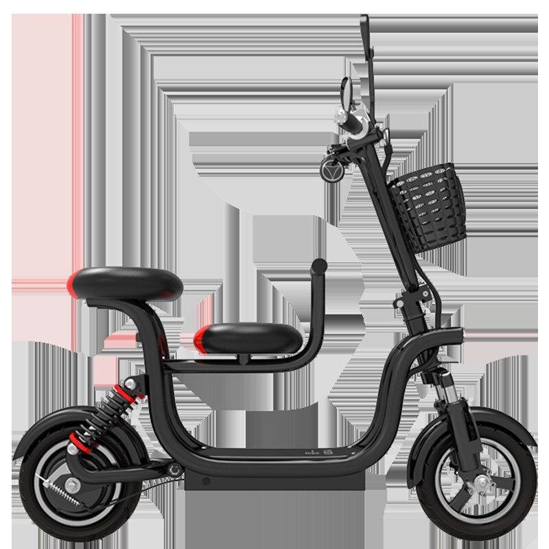 Voiture électrique 48 V lithium voiture électrique mini batterie voiture dames vélo électrique lumière scooter