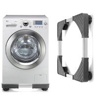 16.8cm*16.8cm Stainless Steel Washing Machine Stand Refrigerator Base Holder Undercarriage Bracket Tripo Movable Floor Stand