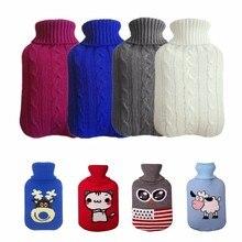 Прямая поставка вязаный чехол для бутылки горячей воды для 2000 мл грелка сумки для горячей воды Анти-обжигающая крышка согревающая грелка для рук