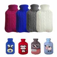 Drop Shipping Knit Hot Water Bottle Bag Cover for 2000ML Hot Water Bottle Hot-water Bags Anti-scalding Cover Warming Hand Warmer