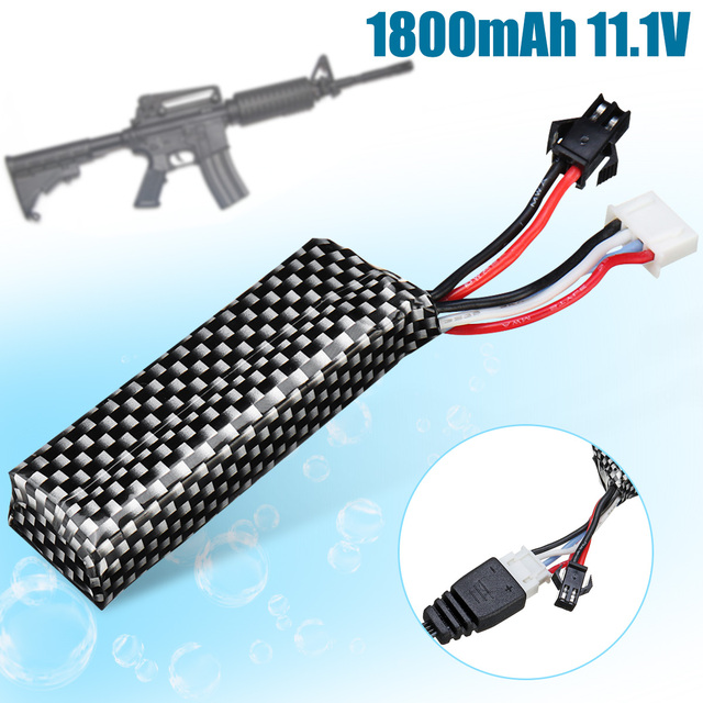 1800mAh 11.1V Lithium Battery + Charger for JinMing Gen8 Gel Ball Blasting Toy Gu n Accessories Lithium Battery