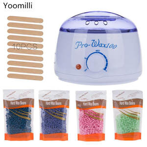 Hair Removal Tool Professional Warmer Wax Heater Machine Mini SPA Hand Epilator Feet Paraffin Wax with Beans Sticks Wax Kit