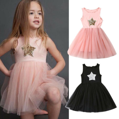 US $2 9 16% OFF|Pudcoco 2019 New Brand Seller Newborn Kid Baby Girls  Sequins Star Pageant Party Tulle Dress Sundress-in Dresses from Mother &  Kids on