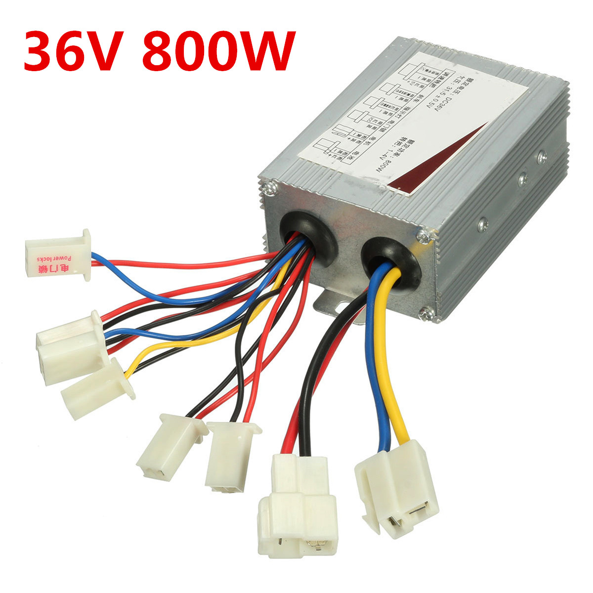 36V 800W DC Brush Motor Speed Controller for Electric Scooter Bicycle E-bike Motorcycle Accessories Parts