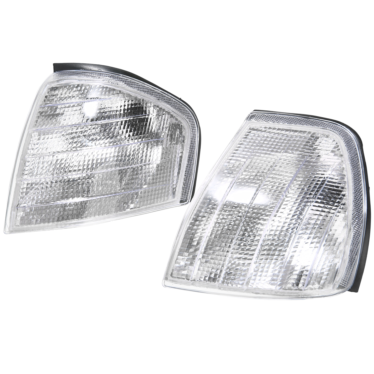 For <font><b>Mercedes</b></font> Benz C Class W202 1994 1995 <font><b>1996</b></font> 1997 1998 1999 2000 1 Pair Clear Turn Signal Corner Light Car Styling Signal Lamp image