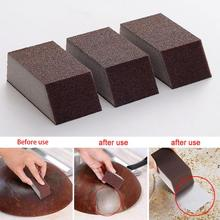 1/3pcs Magic Sponge Brush Aluminum Oxide Emery Rust Dirt Stains Clean Bowl Washing Pot Kitchen Cleaning #25