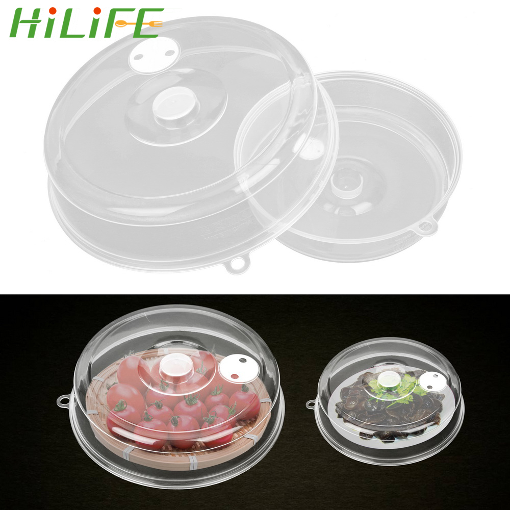 HILIFE Microwave Oven Bowl Cover Food Preservation Seal Fresh Keeping Pot Lid Transparent Kitchen Utensil Cover