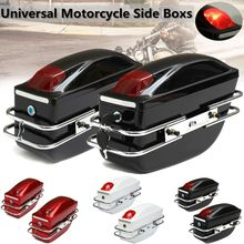 1 Pair Universal Motorcycle Side Boxs Luggage Tank Tail Tool Bag Hard Case Saddle Bags For Kawasaki/Honda