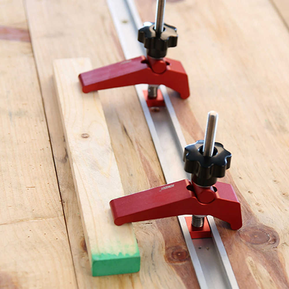 Быстродействующие зажимы из алюминиевого сплава с Т-образным слотом для деревообработки