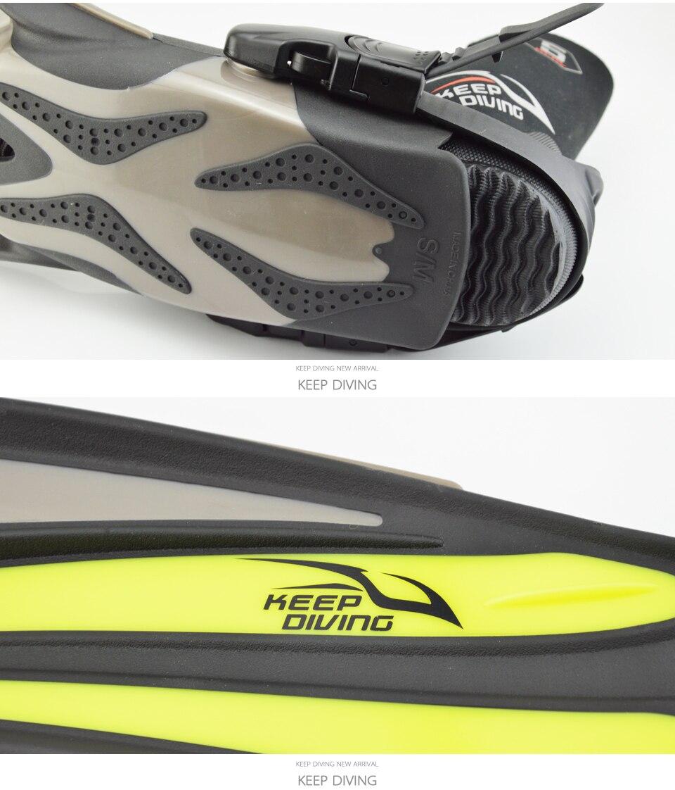 Maintien de la plongée plongée palmes longues ajustable plongée en apnée nageoires de natation talon ouvert scaphandre spécial pour bottes de plongée chaussures Monofin Gear - 3